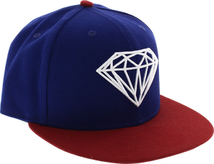 DIAMOND BRILLIANT HAT 7-1/2 ROYAL/RED