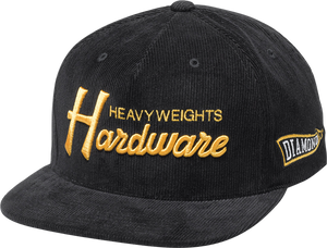DIAMOND HARDWARE HAT ADJ-BLK/GOLD snapback