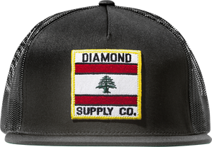 DIAMOND MY COUNTRY MESH HAT ADJ-BLACK