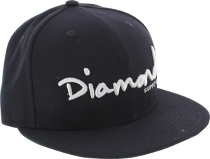 "DIAMOND OG SCRIPT HAT 7-3/8"" NAVY/WHT newera"
