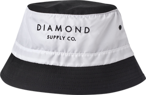 DIAMOND STONE CUT BUCKET HAT S/M-WHITE/BLK