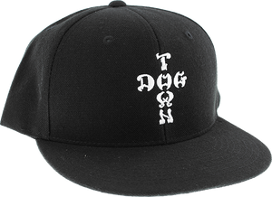 DOGTOWN CROSS LETTERS EMBROIDERED ADJ-BLACK