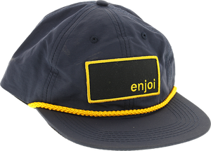 ENJOI BOX LOGO CAPTAIN HAT ADJ-NAVY/YEL