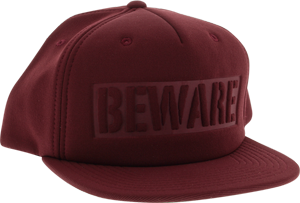 GRIZZLY BEWARE HAT ADJ-BURGUNDY