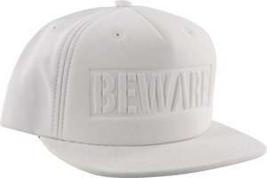 GRIZZLY BEWARE HAT ADJ-WHITE