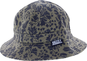 GRIZZLY SPRINGFIELD CAMO BUCKET HAT S/M-GREEN