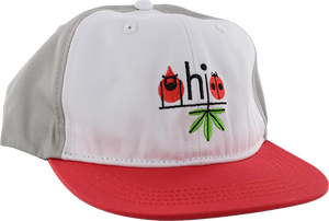 HABITAT HARPER OHIO HAT ADJ-WHT/GREY/RED