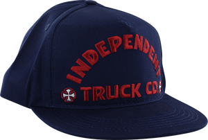 INDEPENDENT ITC BOLD HAT ADJ-NAVY