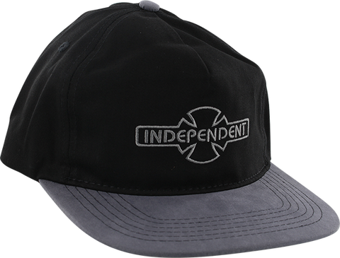 INDEPENDENT O.G.B.C. EMBROIDERY HAT ADJ-BLK/GREY