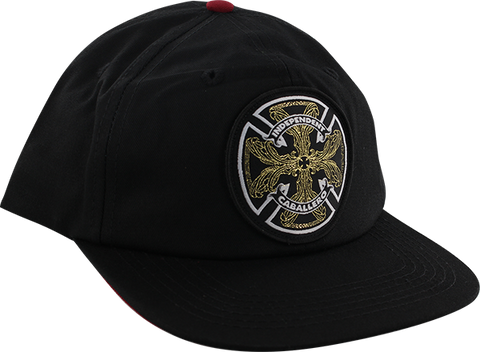 INDEPENDENT CABALLERO FLOURISH HAT ADJ-BLK/BLK