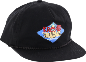 KROOKED SKATEBOARDS ARKETYPE HAT ADJ-BLACK