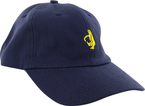 KROOKED SKATEBOARDS SHMOLO EMBLEM HAT ADJ-DARK NAVY/YEL