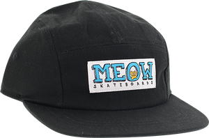 MEOW LOGO 5PANEL CAMP HAT ADJ-BLACK