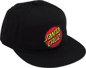 SANTA CRUZ DOT HAT ADJ-BLACK