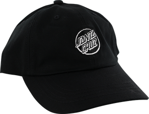 SANTA CRUZ OPUS DOT DAD HAT ADJ-BLACK