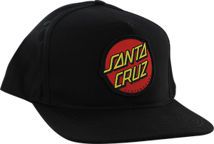 SANTA CRUZ OTHER DOT SNAPBACK HAT ADJ-BLK W/RED