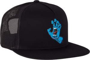 SANTA CRUZ SCREAMING HAND MESH HAT ADJ-BLK/BLK