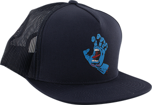 SANTA CRUZ SCREAMING HAND FRONT MESH HAT ADJ-NAVY/BLK