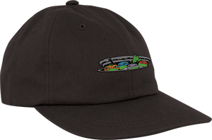 SANTA CRUZ NINJA TURTLES LOGO UNSTRUCTURED HAT ADJ-BLACK