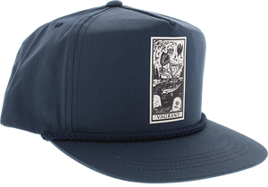 VAGRANT SKATEBOARDS DEATH CARD POPLIN HAT ADJ-NAVY