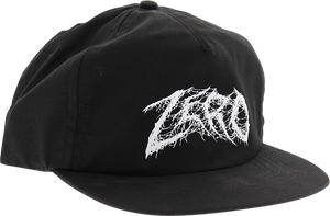 ZERO DEMON TEXT HAT ADJ-BLK