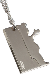 GRIZZLY BLADE NECKLACE SILVER W/BAG