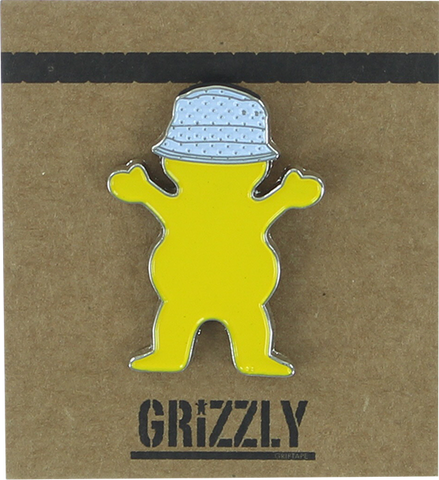 GRIZZLY GRIPTAPE BUCKET BEAR BEAR PIN