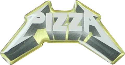 PIZZA METAL ENAMEL PIN