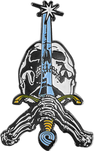 PWL/P SKULL & SWORD LAPEL PIN single