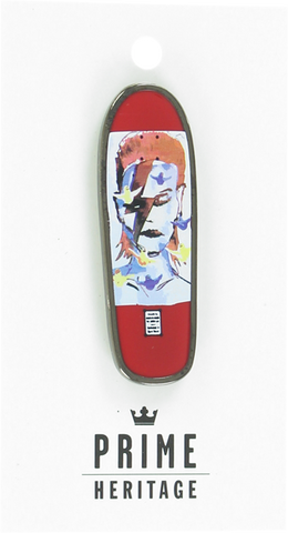 "PRIME GONZ BOWIE BOARD LAPEL PIN 2""-RED"