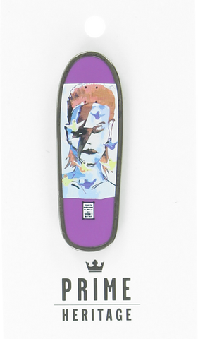 "PRIME GONZ BOWIE BOARD LAPEL PIN 2""-PURPLE"