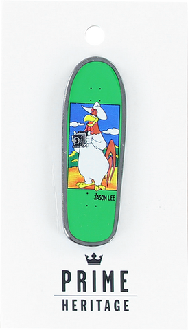 "PRIME JASON LEE FOGHORN BOARD LAPEL PIN 2"" GREEN"