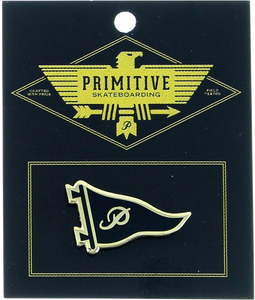 PRIMITIVE PENNANT LAPEL PIN BLK/GOLD