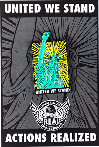 REAL SKATEBOARDS UNITED WE STAND LAPEL HAND