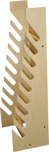 STANDING WOOD BOARD RACK SMALL -9 slots