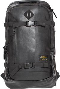 GRIZZLY RESCUE PATROL LEATHER BACKPACK BLACK/BLACK