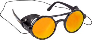 BRONSON SPEED CO. SPEED FLAPS ROUND SUNGLASSES BLACK