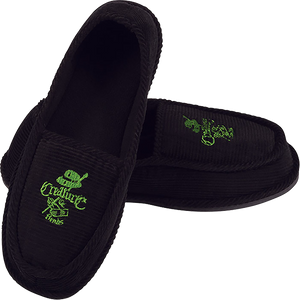 CREATURE CAR CLUB SLIP ON CREEPERS BLK/GRN SIZE 8