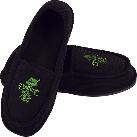 CREATURE CAR CLUB SLIP ON CREEPERS BLK/GRN SIZE 11