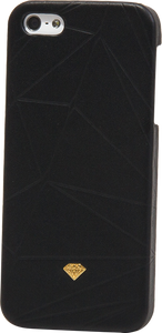 DIAMOND IPHONE5 SLIDER CASE-LEATHER BLK sale