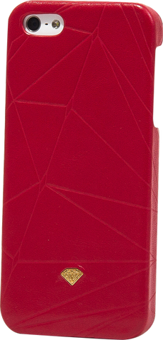DIAMOND IPHONE5 SLIDER CASE-LEATHER RED sale