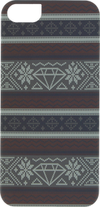 DIAMOND IPHONE5 FAIRISLE CASE BURGUNDY sale