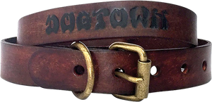 DOGTOWN DOG COLLAR SMALL-BROWN