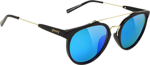 GLASSY SUNHATERS CHUCK BLK/BLUE MIRROR SUNGLASSES