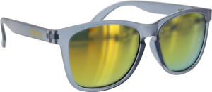 GLASSY SUNHATERS DERIC CLR.GREY/RED MIRROR SUNGLASSES