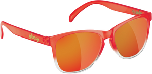 GLASSY DERIC TRANS.RED/RED MIRROR SUNGLASSES