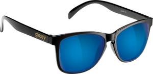 GLASSY SUNHATERS DERIC BLK/BLUE MIRROR SUNGLASSES