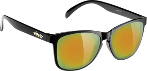 GLASSY SUNHATERS DERIC CANCER BLK/GOLD MIRROR SUNGLASSES