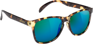 GLASSY SUNHATERS DERIC TORTOISE/GRN MIRROR SUNGLASSES