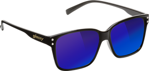 GLASSY FRITZ BLK/BLU MIRROR SUNGLASSES